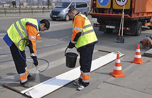 Восстановление дорожной разметки